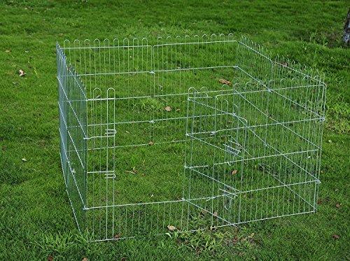 pawhut-recinto-per-cani-gatti-cuccioli-roditori-recinzione-rete-gabbia-8-pezzi-91-x-63-cm