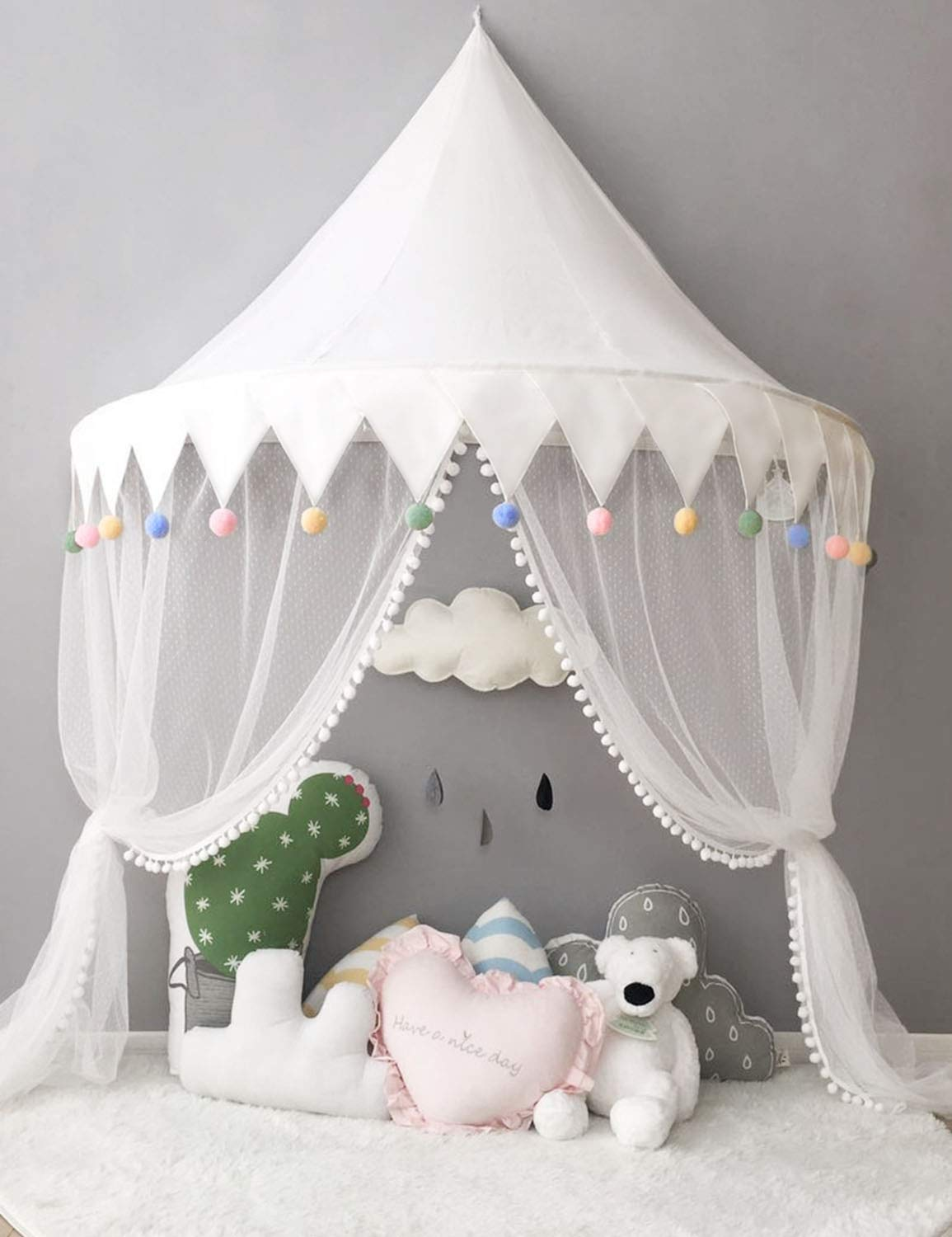 new product 289a8 16a00 Nordic Ideas Tent for Toddler Bed Teepee Sky Bed with Mosquito Net Curtain  Bed Baby Girl Decoration Room WBT