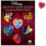 Disneys Greatest Love Songs - für Klavier - Reihe Easy Piano - Notenbuch mit bunter herzförmiger Notenklammer