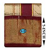Prakasam Cotton Brand- Poly Mixing Mens Panjakejam Dhoti & Towel set (ASHA-9X5-BEIGE)-(9X5-15)