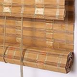 WUFENG Bambusrollo Mehrere Farben Vorhänge Schatten Abgeschnitten Schattierung Zuhause Teehaus Hängender Vorhang Umweltschutz Harmlos Türvorhang (Farbe : C, größe : 140x200cm)