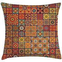 Marokkanische Mandalas Sterne Orange Baumwolle Mischung Einzelbett 5 Teile Novel Design; In