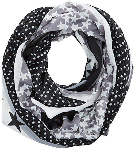 s.Oliver Damen Schal 38899913638, Schwarz (Grey/Black Aop 99B1), One Size