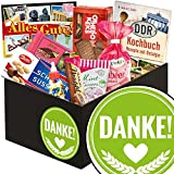 Danke ❤️ Süßigkeiten aus dem Osten ❤️ Geschenkbox mit Puffreis Schokolade, Mintkissen Viba und vielem mehr ❤️