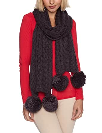 Hunter Chunky Cable Women's Scarf Charcoal One Size