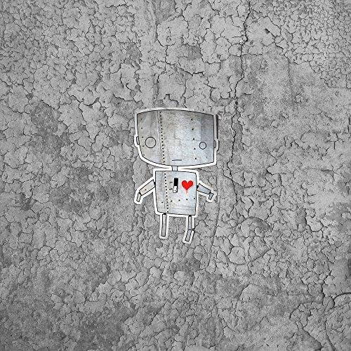 Apple iPhone 5s Housse Étui Protection Coque Robot C½ur Graphique Sideflip Sac
