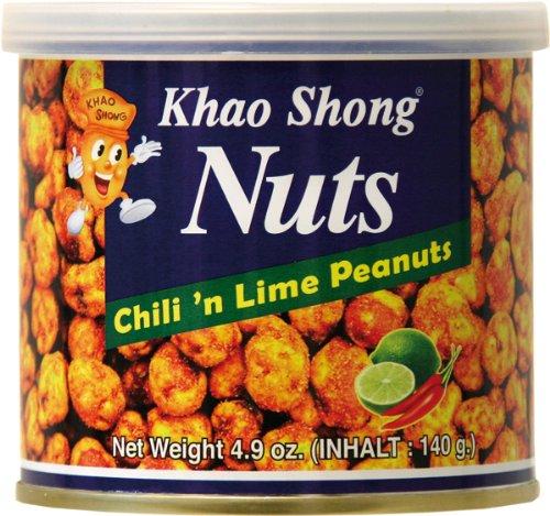 Preisvergleich Produktbild Khao Shong Erdnüsse mit Chili & Lime,  6er Pack (6 x 140 g)