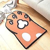 KAYLEY Alfombra Shaggy para Salón Dormitorio Decoración Microfibra Suave Antideslizante Alfombra de Ducha Lavable Felpudo Naranja, 50x80cm