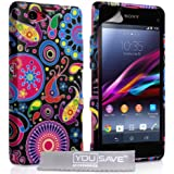 Yousave Accessories Sony Xperia Z1 Compact Hülle Mehrfarbig Quelle Silikon Schutzhülle