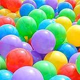 siwetg Lot de 50 balles multicolores en plastique souple pour bébé et enfant 5,5 cm