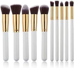 leisial 10pcs Professional Pennello Make Up Set di pennelli Pennello Cosmetico Set ombretto Make Up Set di pennelli
