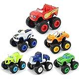 KOBWA Blaze and The Monster Machines, 6 Stück Monster Machines Spielzeug, Blaze und die Monster Maschinen Monstertruck für Kinder