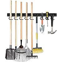 TZUTOGETHER porte outils de jardin mural,Supports de balai de vadrouille,Organisateur d'étagères de support à outils…