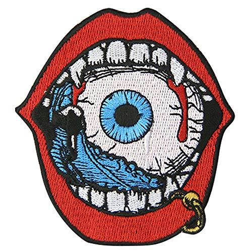 Parche bordado con texto en inglés'Eat Eyeball' para planchar o...
