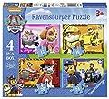 Ravensburger 7033 Paw Patrol - Paquete de 4 puzzles en la caja, con Paw Patrol de Ravensburger