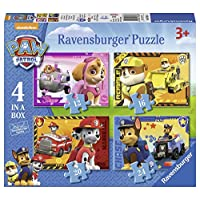 Ravensburger 7033 Paw Patrol 4 in a Box (12, 16, 20, 24pc) Jigsaw Puzzles, Multicoloured