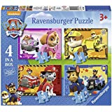 Ravensburger 7033 Paw Patrol 4-in-1 Jigsaw Puzzles, Multicoloured