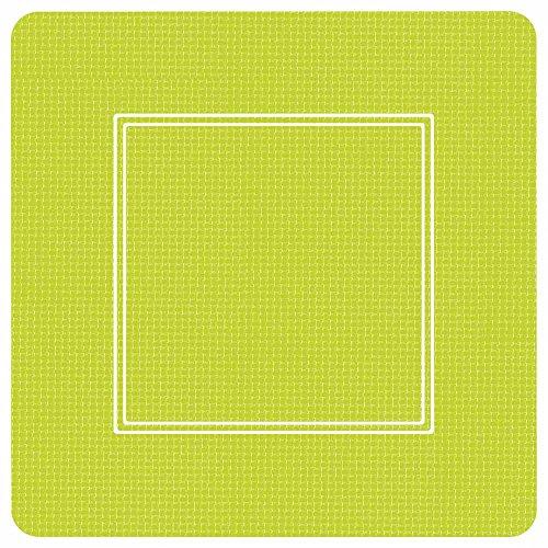 Paperproducts Design PPD 87195 Dessertteller aus Pappteller, quadratisch, 17,8 cm, Grün