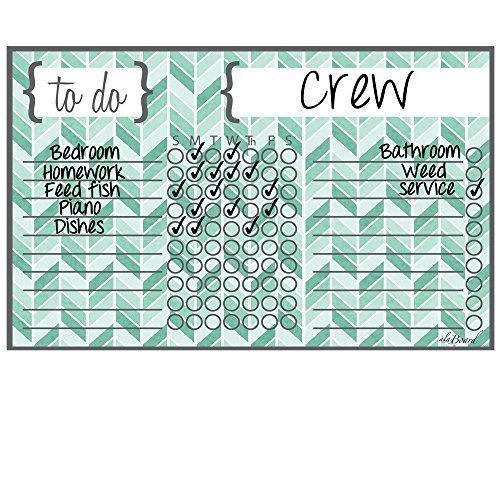 Dry Erase Chore Chart Magnet: Herringbone Teal by ala Board