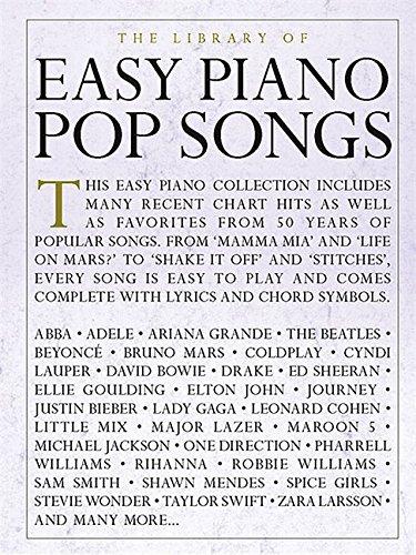 The Library Of Easy Piano Pop Songs (Piano Book): Klavierpartitur, Sammelband für Klavier