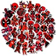 Deadpool Stickers for Laptop Water Bottle Decals of 35 Pcs Non-repetitive Appliques,Difficult to Fade