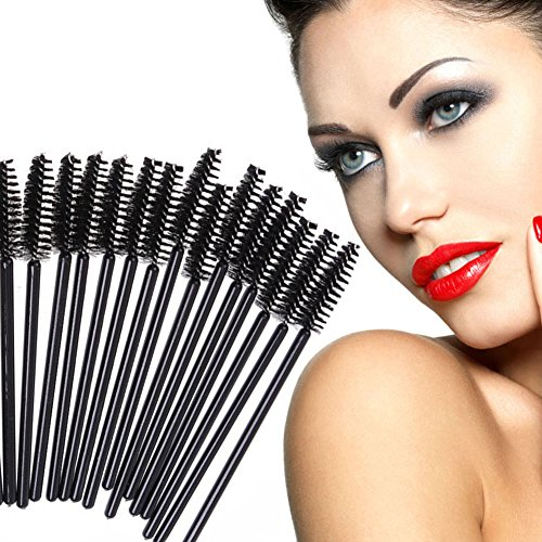 Domybest 200 pcs jetable Brosse Cils Mascara Applicateur Spoolers Lot de Outil de maquillage