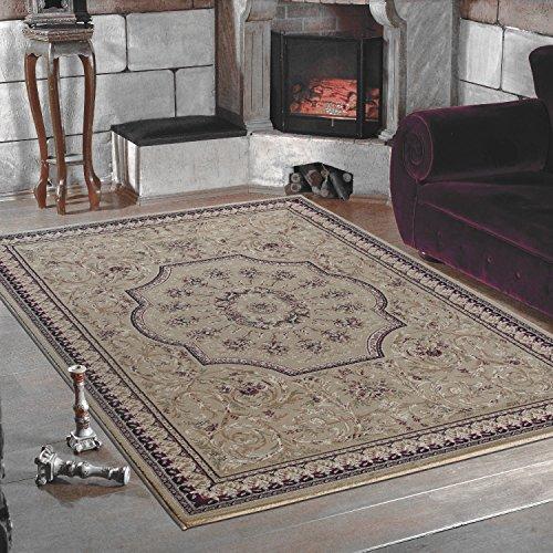 Klassich Orient Teppiche MALAZGIRT Medallion Bidjar_historische motive mit hochwertigen PP Heatset Teppiche_0209 BEIGE