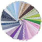 (100% Baumwolle) 42 Stück 6 Farbsystem Patchwork Stoffe 25