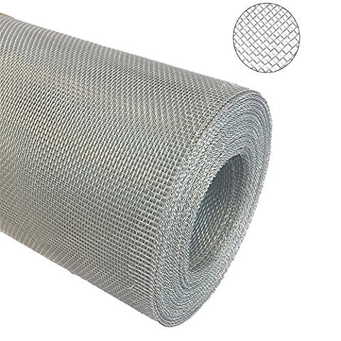 Aluminium Gewebe Fliegengitter Alu-Gewebe Fliegenschutz Alunetz Gitter Lichtschacht 12,5 m als Rolle x 0,6 m (60 cm), Grundpreis/m² € 4,50