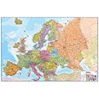 Wallpops WPE0901 Dry Erase Europe Map - Multi-colour