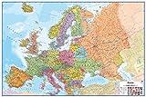 Wallpops Fine Décor-Lavagna cancellabile a Secco, con mappe Europa