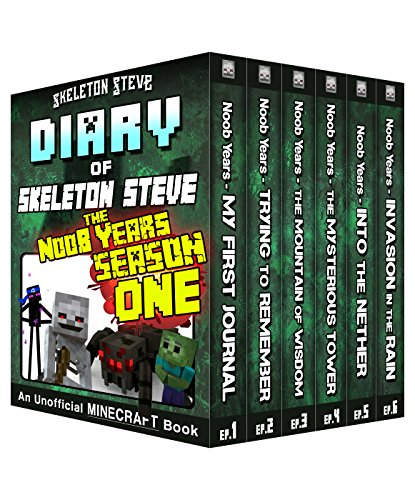 Diary of Minecraft Skeleton Steve the Noob Years - FULL Season One (1): Unofficial Minecraft Books for Kids, Teens, & Nerds - Adventure Fan Fiction Diary ... - Bundle Box Sets 6) (English Edition) por Skeleton Steve