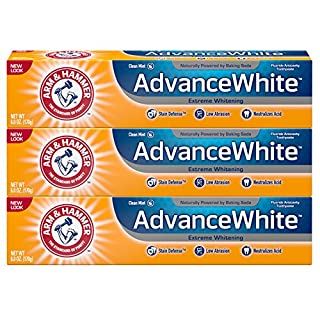 Arm & Hammer Advance White Toothpaste Baking Soda And Peroxide Fresh Mint, 6 oz (Pack of 3)