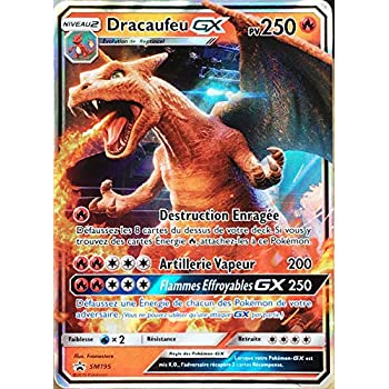 Pokemon Company International Carte Pokémon Sm195 Dracaufeu Gx 250 Pv Full Art Neuf Fr