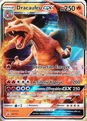 Pokemon Company International Carte Pokémon SM195 Dracaufeu GX 250 PV - Full Art Neuf FR