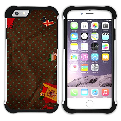 Graphic4You Used Tires Design Hart + Weiche Kratzfeste Hülle Case Schale Tasche Schutzhülle für Apple iPhone 6 Plus / 6S Plus Design #7