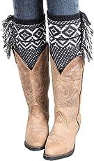 Voberry Women's s Tassel Crochet Knitted Boot Cuffs Toppers Leg Warmers Socks