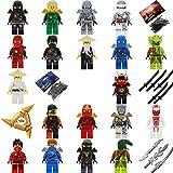 LEGO Ninjago 24teiliger Adventskalender 2017 zum selbst Befüllen Klassiker Jay, Cole, Zane, Kai, Sensei Wu sowie viele weitere wie abgebildet mit LEGO Waffen sowie GALAXYARMS Schwertern TOP Angebote zu Weihnachten! (Advent24)