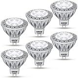 AGOTD Ampoule LEDs GU5.3 MR16 12V Spot Blanc Froid, 7W SMD Lampe, Haute compatibilité, No Flicker, Haute Luminosité, GU 5.3,