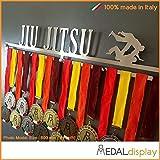 Jiu Jitsu | Portamedallas Jiu Jitsu / Medallero de pared Jiu Jitsu, 750mm x 115mm x 3mm