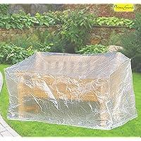 Banque Confort Housse de protection pour banc de jardin Transparent 160x 75x 78cm