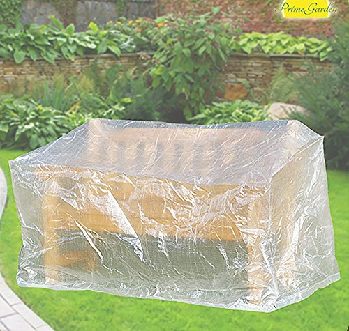 Komfort Schutzhülle für Gartenbank Bank, 160 x 75 x 78 cm, transparent