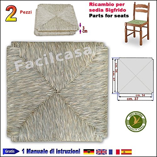 Seduta fondo in paglia vera di fiume facilcasa ricambio sedia (art 01 sigfrido)