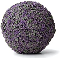Esfera Decorativa Vinca, Morado y Verde, 18 cm altura, Catral 72050007