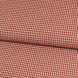 Stoffe Werning Seersucker Karo rot Modestoffe Baumwolle -