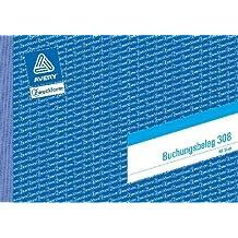 Avery Zweckform© 308 Buchungsbeleg, DIN A5 quer, mikroperforiert, 50 Blatt, weiá