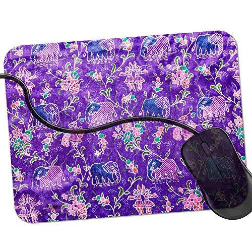 QCFW Alfombrilla de Ratón Elefantes Indios púrpura, Alfombrilla de Ratón Ordenador Gaming...