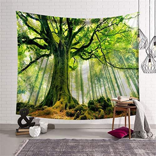 Forest Green Print Tapisserie Baum Wandbehang Tapisserie Art Room Home Decor für Schlafzimmer Wohnheim Dekor -