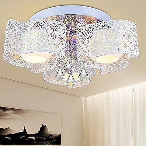 Yun Moda lampade led romantica camera da letto lampada salotto sala da pranzo ferro moderno Lampadario plafoniera in cristallo