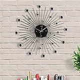 Out of the blue 79/3165 - Reloj de pared metálico diseño estrella de cristales